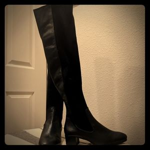 Heeled Leather Zara OTK Boot 8